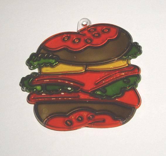 Иллюстрация 1 из 4 для Витраж малый: Гамбургер | Лабиринт - игрушки. Источник: OOlga