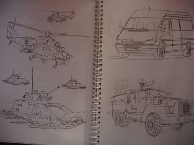 """Иллюстрация 17 из 20 для Раскраска """"Автомобили, авиация ..."""