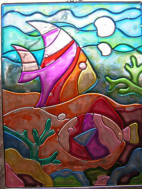 Иллюстрация 1 из 3 для Витраж большой: Рыба | Лабиринт - игрушки. Источник: ИринаИ