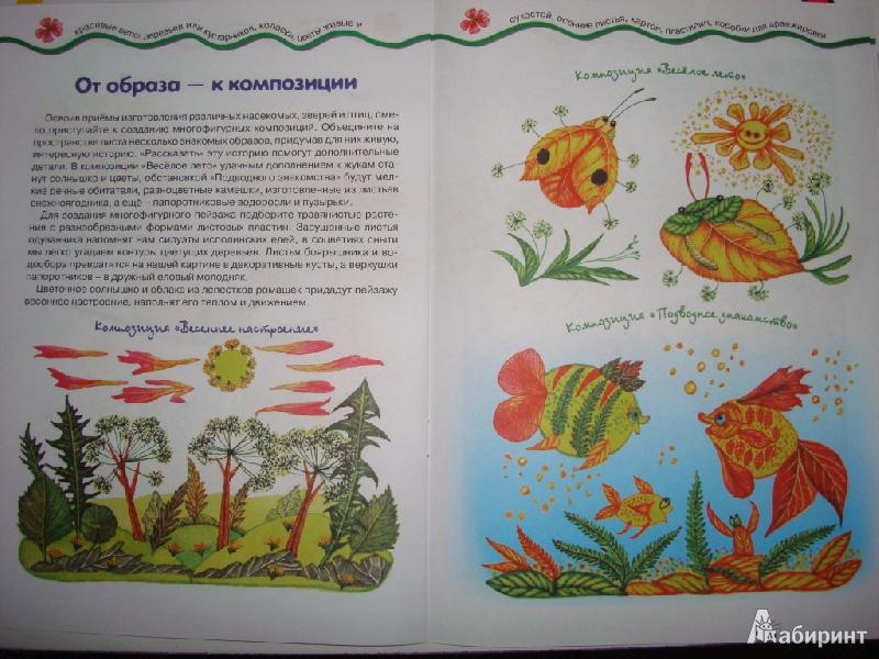 Иллюстрация 8 из 22 для Мастерилка № 7. Листья, травы, семена. Аппликация из листьев - Татьяна Рогаткина | Лабиринт - книги. Источник: Ирчик