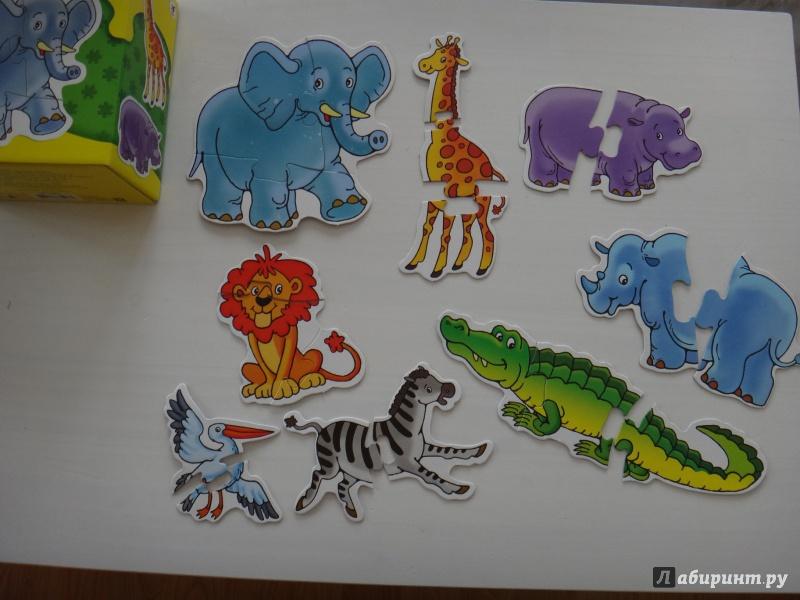 Иллюстрация 12 из 19 для Дикие животные. Собери 8 диких животных: Для самых маленьких (1085) | Лабиринт - игрушки. Источник: Шустерова  Марина