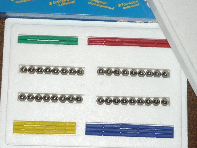 Иллюстрация 3 из 14 для Конструктор магнитный (89 элементов) (1107) | Лабиринт - игрушки. Источник: Ромашка:-)