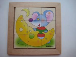 Иллюстрация 2 из 3 для Мышонок-головоломка в деревянной рамке (Д-258) | Лабиринт - игрушки. Источник: Певцова Анастасия Владимировна
