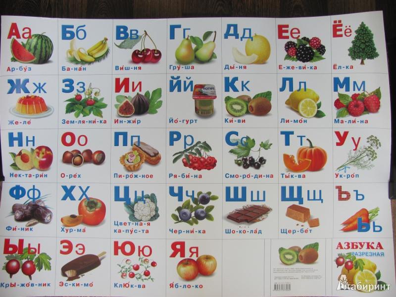 азбука фрукты с картинками подарки